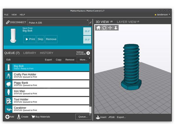 mattercontrol 3d software