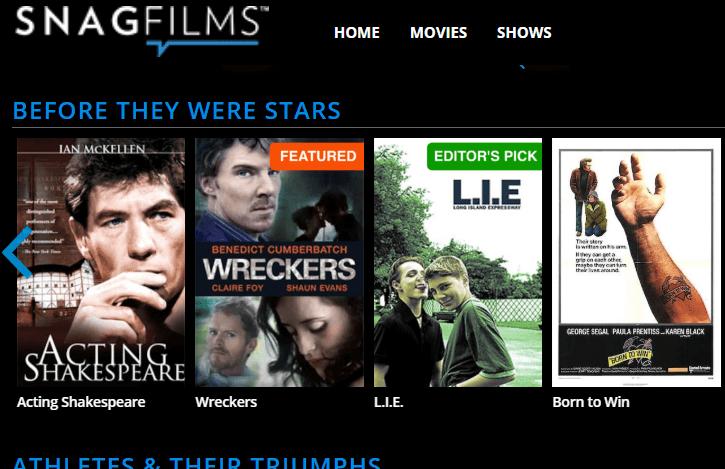 snag films site like 123movies
