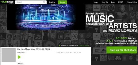 hulkshare music site