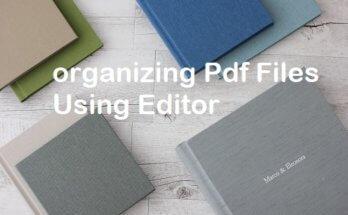 organizing pdf using editor