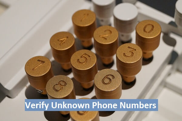 verify unknown phone numbers